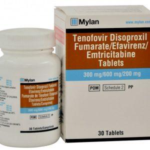 tenofovir disoproxil fumarate/lamivudine/efavirenz tablets