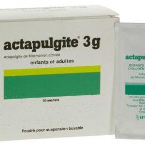 Actapulgite 3g điều trị các triệu chứng tiêu chảy đặc hiệu và không đặc hiệu. Ðiều trị: Viêm đại tràng cấp & mãn tính kèm tiêu chảy, chướng bụng, Viêm loét đại tràng. Giảm các triệu chứng tiêu chảy.