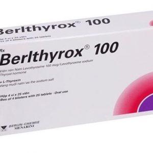 Thuốc 'Berlthyrox 100mg' Là gì? Thuốc điều trị nhược giáp, phòng ngừa tái phát bướu giáp lành.