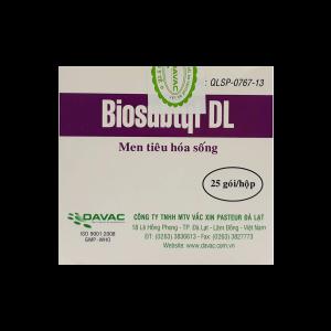 Biosubtyl DL trị tiêu chảy, viêm đại tràng cấp và mãn tính. Điều trị rối loạn tiêu hóa sau khi sử dụng kháng sinh.