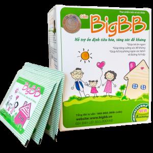 Cốm BigBB giúp làm giảm triệu chứng viêm đường hô hấp trên cấp và mãn tính như: chảy nước mũi, viêm họng, viêm thanh quản, ho, ho có đờm.