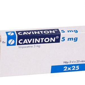 Cavinton 5mg điều trị rối loạn tuần hoàn não: sau đột quỵ, suy giảm trí năng do mạch, xơ vữa động mạch não, bệnh não do cao huyết áp và sau chấn thương. Rối loạn mạch mạn tính của võng mạc và mạch mạc.
