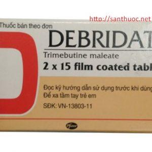 Debridat điều trị triệu chứng đau do rối loạn chức năng của ống tiêu hóa và đường mật. Điều trị triệu chứng đau, rối loạn sự chuyển vận, bất ổn ở ruột có liên quan đến rối loạn chức năng của ruột.