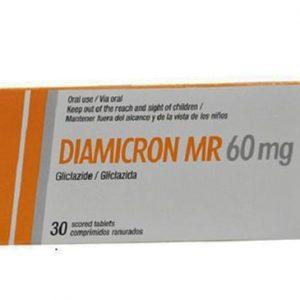 Diamicron MR 60mg điều trị đái tháo đường typ 2 (không lệ thuộc Insulin), phối hợp với chế độ ăn kiêng phù hợp, khi sự kiểm soát đường huyết không đạt được bằng chế độ ăn kiêng đơn thuần.
