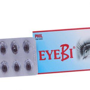 EyeBi có tác dụng hỗ trợ điều trị một số bệnh về mắt như cận thị thoái hóa, cận thị tiến triển, bệnh lý võng mạc, quáng gà, đau nhức mắt, mỏi mắt do sử dụng nhiều máy tính, viêm giác mạc, đục thủy tinh thể, thoái hóa điểm vàng ở người cao tuổi