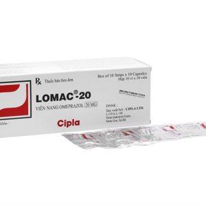 Lomac 20mg điều trị và dự phòng tái phát loét dạ dày, loét tá tràng, viêm thực quản trào ngược, điều trị dài hạn bệnh lý tăng tiết dạ dày trong hội chứng Zollinger-Ellison.