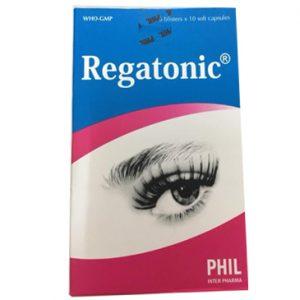 Thuốc Regatonic hỗ trợ điều trị một số bệnh về mắt: cận thị, quáng gà, mỏi mắt, suy giảm thị lực do thoái hóa võng mạc ngoại vi hoặc trung tâm, bệnh võng mạc do tiểu đường.