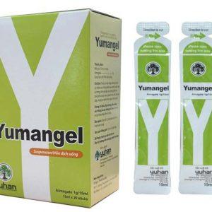 Yumangel 15ml kháng acid và cải thiện các chứng bệnh: loét dạ dày, loét tá tràng; viêm dạ dày; các chứng bệnh do tăng tiết acid (ợ nóng, buồn nôn, nôn, đau dạ dày, chứng ợ), bệnh trào ngược thực quản.
