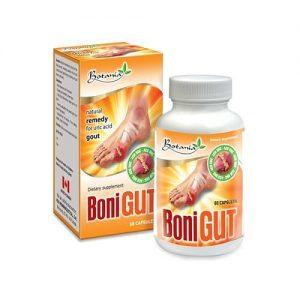 Thực phẩm chức năng Bonigut chống oxy mạnh bảo vệ các khớp bị tổn thương bởi các gốc tự do có hại. Giúp chống viêm, giảm đau nhức các khớp xương hỗ trợ điều trị bệnh gout