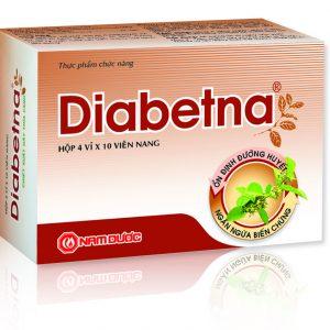 Diabetna với thành phần từ thiên nhiên, giúp sinh tân, chỉ khát, làm hạ đường huyết; hỗ trợ điều trị bệnh tiểu đường, ổn định đường huyết và ngăn ngừa các biến chứng của bệnh tiểu đường.