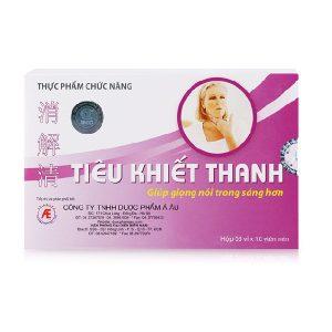 Tiêu Khiết Thanh với thành phần thiên nhiên, giúp ngăn ngừa và giảm các triệu chứng viêm đường hô hấp mạn tính như: viêm thanh quản, viêm amidan, khản tiếng, mất tiếng.