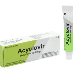 Acyclovir 5g điều trị ngăn ngừa tái phát Virut Herpes Simplex, nhiễm Herpes sinh dục, bệnh Zona và thủy đậu.