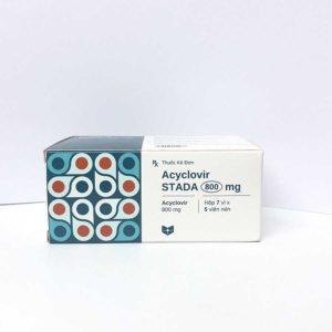 Acyclovir 800 điều trị ngăn ngừa tái phát Virut Herpes Simplex, nhiễm Herpes sinh dục, bệnh Zona và thủy đậu.
